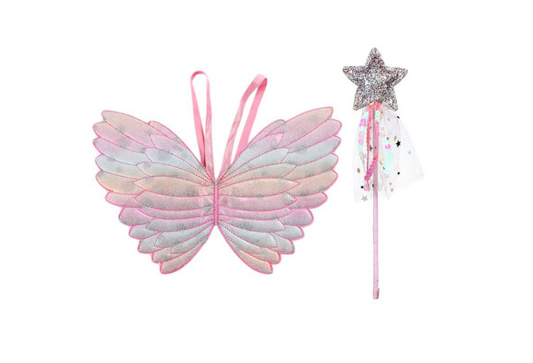 Girls Boys Butterfly Wings Fairy Shawl Cape Fancy Pixie Princess Dress Props