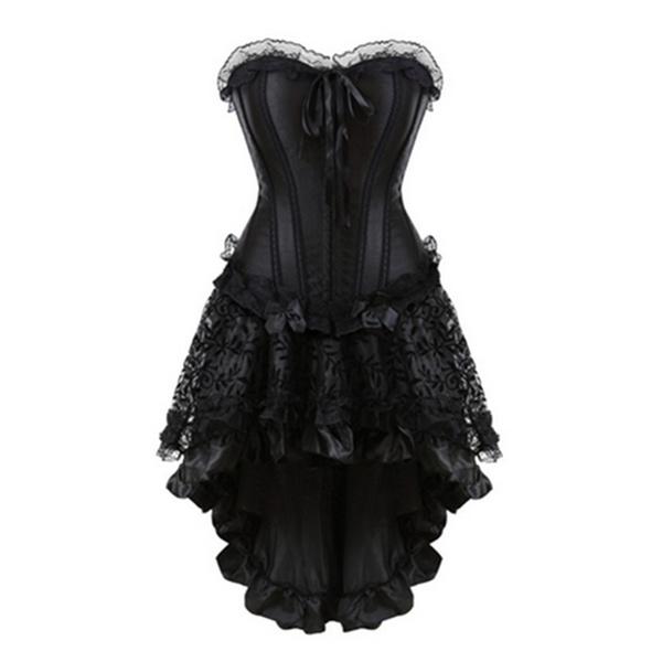 corsetdressplussize, bustier dress, Lace, black lace