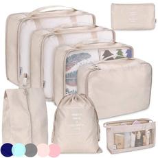organizerbagtravel, luggageclothingbag, Waterproof, packingcubeset
