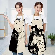 apron, cartoonapron, womenapron, cartooncat