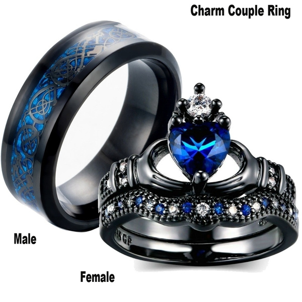 Blues, Steel, Blue Sapphire, wedding ring