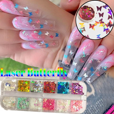 butterfly, nail stickers, nailglitter, Beauty