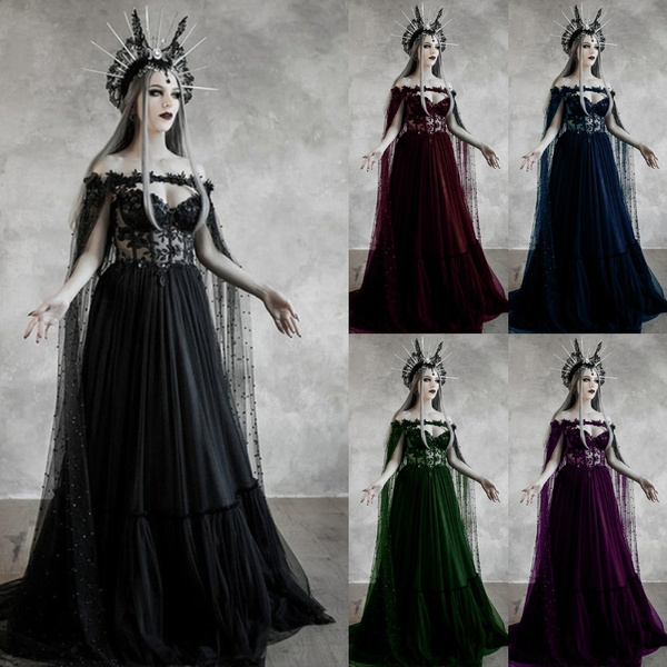GOTHIC DRESS, Plus Size, Lace, long dress