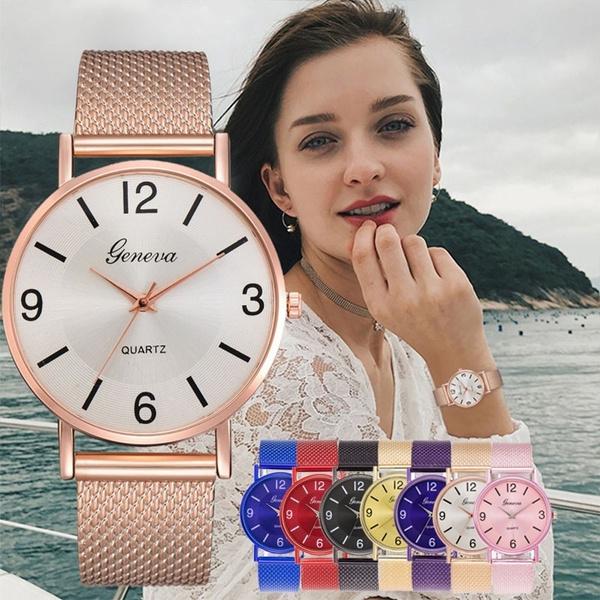Steel, quartz, fashion watches, wristwatch