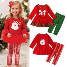 pajamaset, kids clothes, Christmas, santaclauspattern