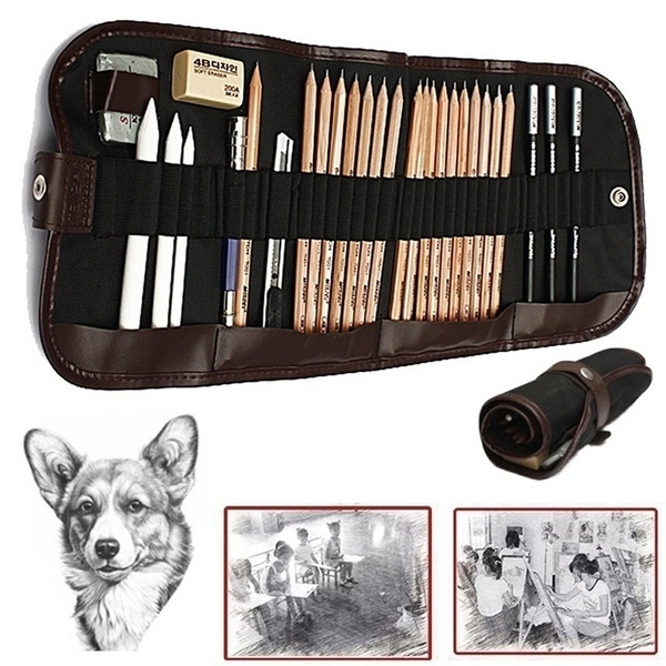 pencil, sketchpencilsset, Drawing & Painting Supplies, Charcoal