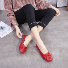 casual shoes, Slip-On, Ladies Fashion, leather