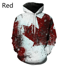 Canada, 3D hoodies, Fashion, nationalflag