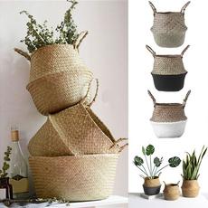 gardenflowerpot, laundrybasket, Decor, Flowers