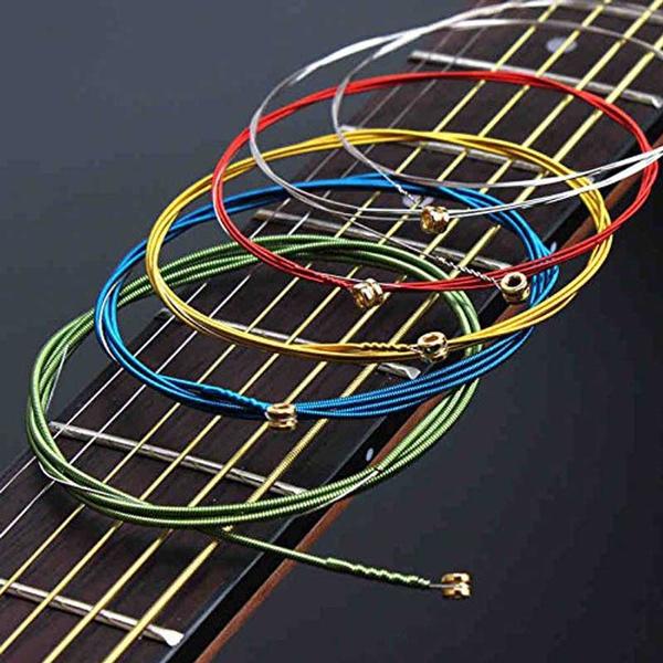 Guitars, guitarstring, Colorful, rainbow