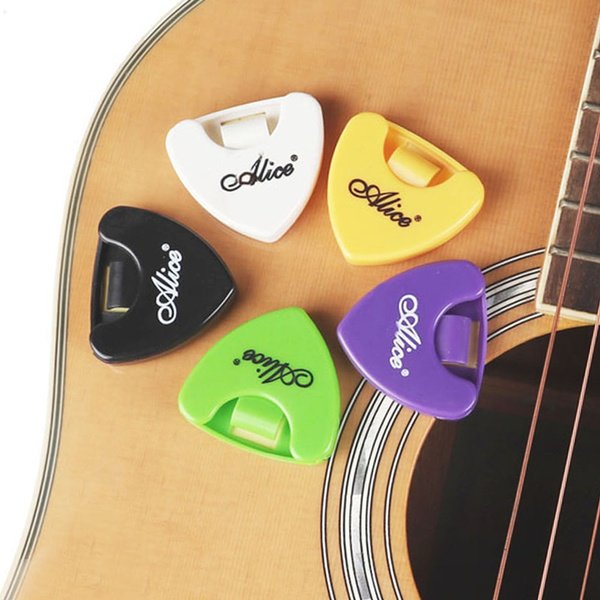 5pcs Alice A010A Guitar Pick Holder Plectrum Case Mediator Quick Storage Triangle Shaped Self-Adhesive Clip Collection Box for Guitar Accessories | Wish