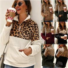 zippersweater, blouse women, fleecesweater, Winter