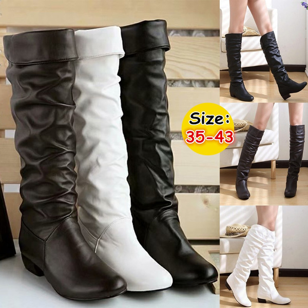Knee High Boots Warm Leather Boots