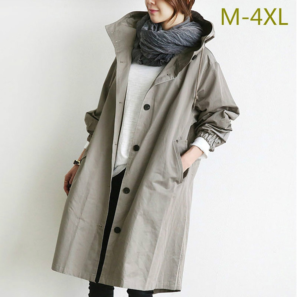 fashion women, Loose, Winter, hoodedjacket