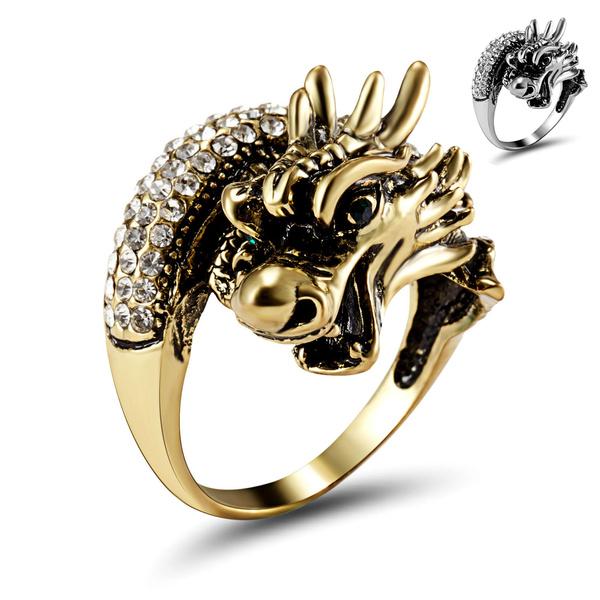 Sterling, Fashion, dragonring, 925 silver rings