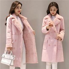 pink, Jacket, Winter Coat Women, velvet