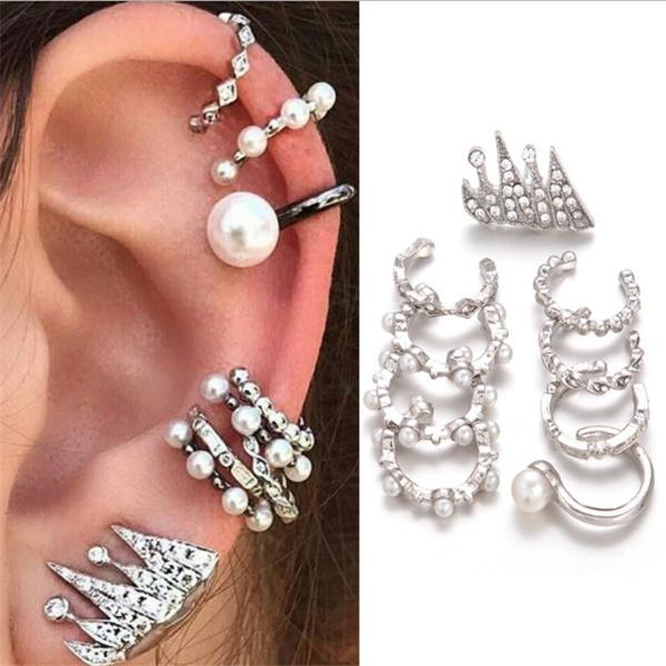 Women, pearlsearclip, Fashion, Jewelry