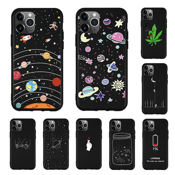 Cartoon Aesthetic Cute Phone Case For Iphone 11 Pro Max Xs Max Xr Xs X 7 8 Plus 11 Black Matte Silicone Back Cover Coque Capas Wish
