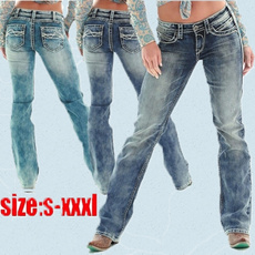 slim, high waist, pants, Women jeans