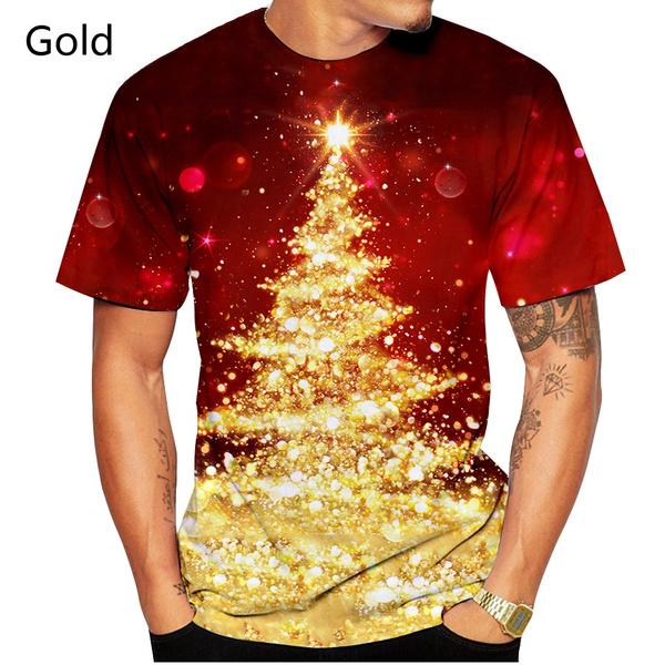 Men, printed, Christmas, 3dshortsleevetshirt