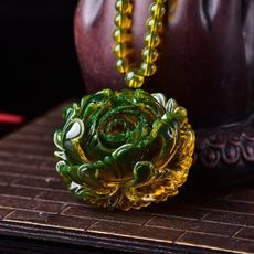 amber, lamper, Flowers, Jewelry