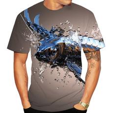 Funny, roboticfishshirt, Fashion, Shirt