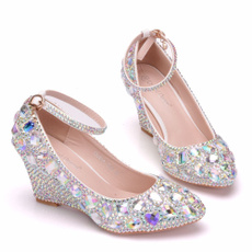 wedge, Bling, womanpump, Woman Shoes
