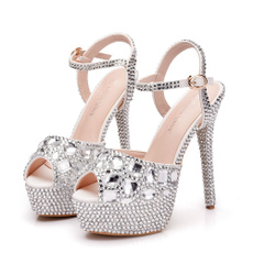DIAMOND, Colorful, wedding shoes, Jewelry
