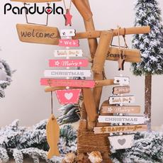 decorationsofchristmastree, christmasdecorationsforhome, merrychristmasletterwoodenpendant, Jewelry