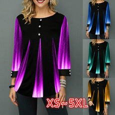blouse, gradientcolorprintingblouse, Tops & Blouses, Winter
