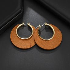 Antique, Hoop Earring, woodearring, Jewelry