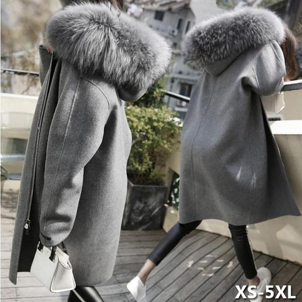 woolen, Collar, Plus Size, fur