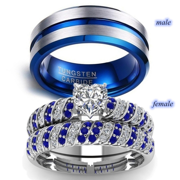 Sterling, Heart, mensweddingband, wedding ring
