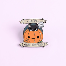 cute, Jewelry, Pins, pumpkinpin