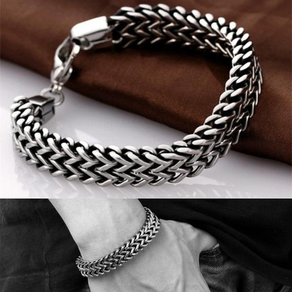 Steel, Fashion, Chain Link Bracelet, stainlesssteelbracelet