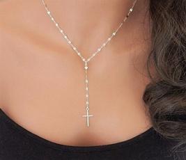 Fashion, Jewelry, Cross Pendant, silvernecklac