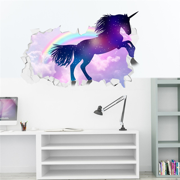 rainbow, horse, muraldecal, Home Decor
