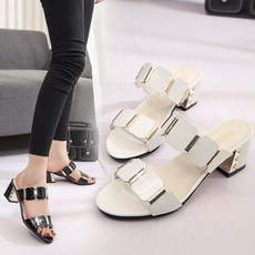 Sandals, Lady, Metal, High Heel