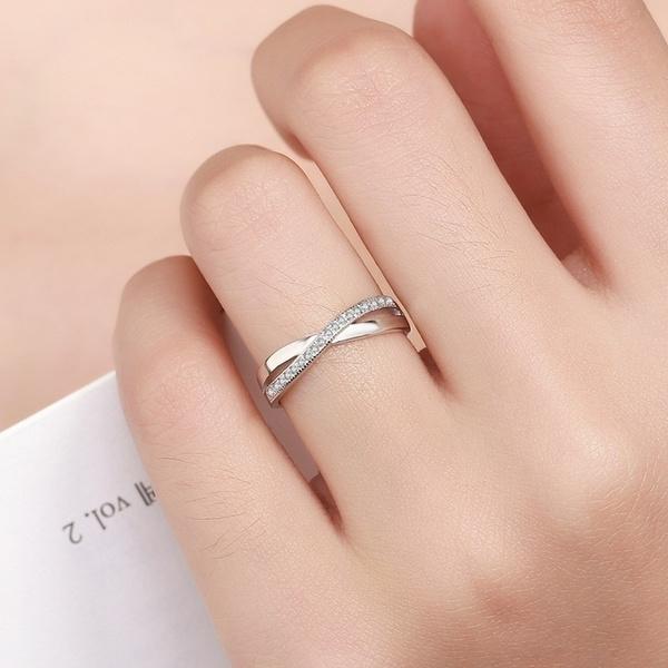 Sterling, Fashion, xshapedring, Women Ring