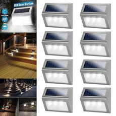 Steel, solarsteplight, Wall Mount, solarlight