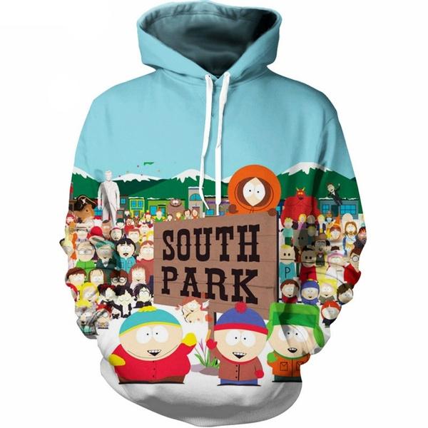 2019 Latest Men S Fashion 3d Printing Anime South Park Hooded Sweatshirt Jacket Street Uniforms Funny Tops Wish