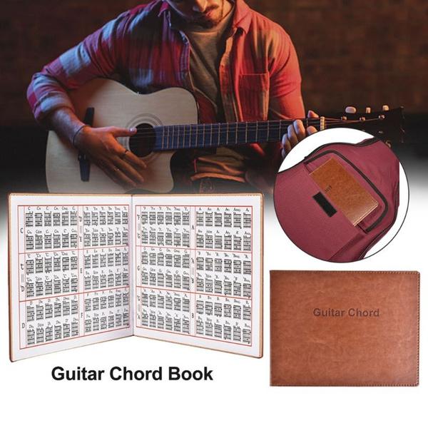 guitarsupplie, graphicguitarchordbook, leather, guitarpractice