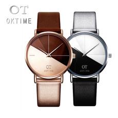 Fashion, leather, quartz watch, analog watch