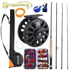 fishingset, Box, freshwaterfishing, flyfishingreel