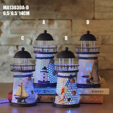 lighthouse, lednightlight, house, mediterranean