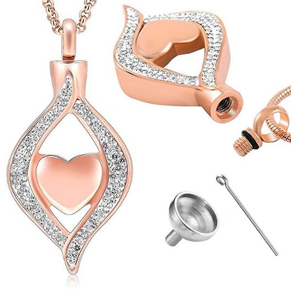 Steel, Heart, titanium steel, Jewelry
