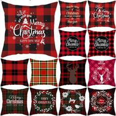 christmaspillowcase, sofadecorative, Home Decor, christmascushioncover