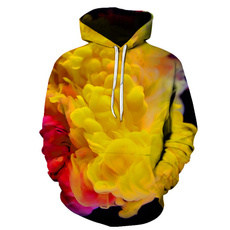 Flowers, Long sleeved, Tops, Yellow