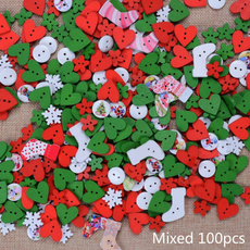 sewingbutton, Sewing, Christmas, woodbutton
