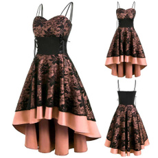 Lace Up, Swing dress, Lace, Evening Dress